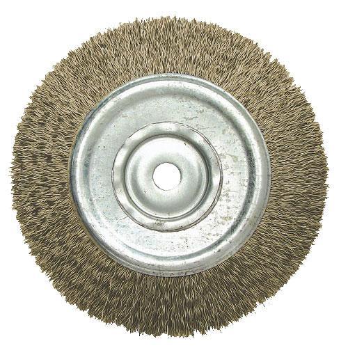 """Escova de Aço Circular JN 6"""" x 3/4"""" x 1/2"""""""