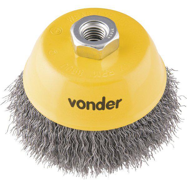 "Escova de Aço Ondulada Tipo Copo Vonder 3"""