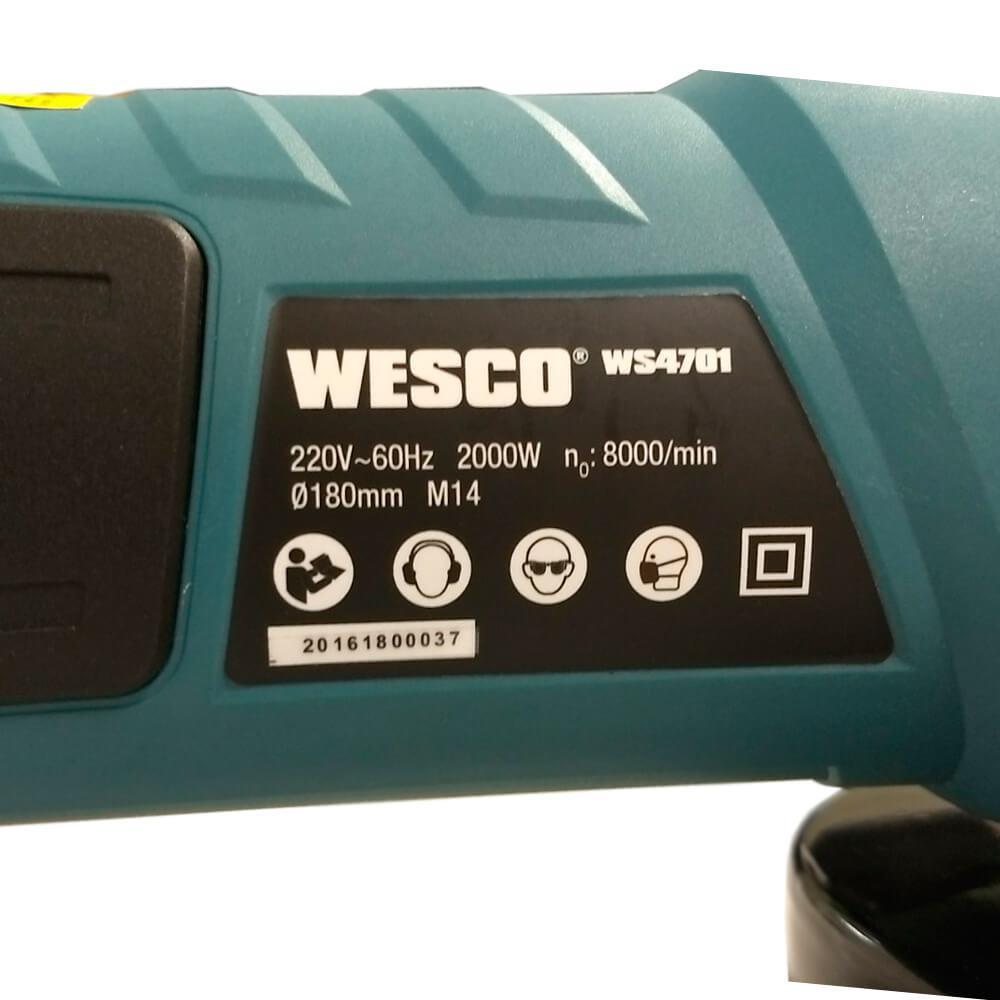 Esmerilhadeira 7 Pol 2000w Wesco WS4701U