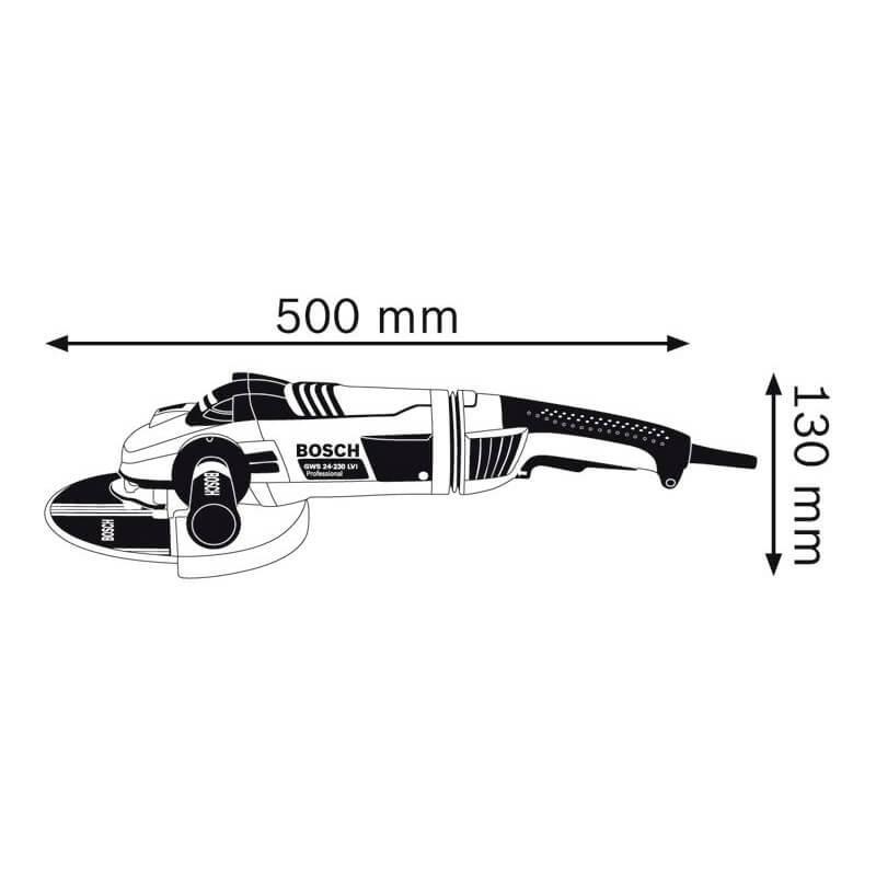 """Esmerilhadeira 9"""" 2.400W Bosch GWS 24-230 LVI"""