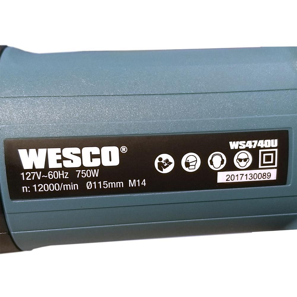 Esmerilhadeira Angular 4.1/2 Pol 750w Wesco WS4740U.M