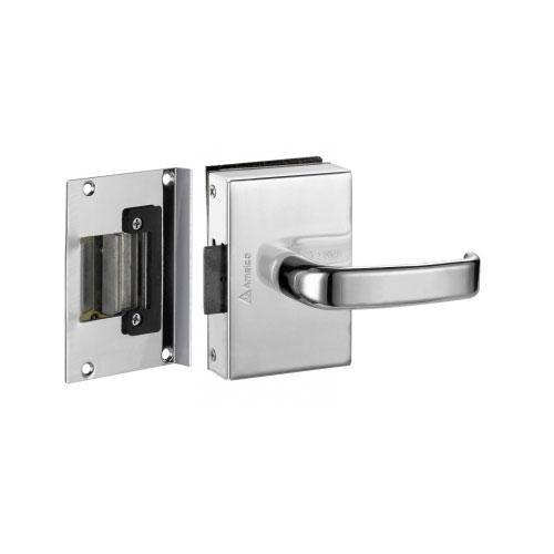 Fechadura Elétrica Porta de Vidro 1 Folha Recorte Amelco FV33ICRA
