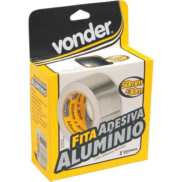 Fita Adesiva de Alumínio Vonder 50 mm x 30 m