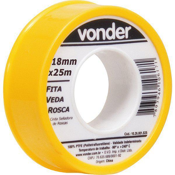 Fita Veda Rosca Vonder 18mmX25metros
