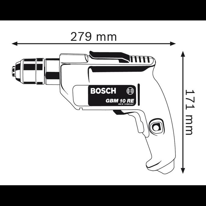 "Furadeira 3/8"" 550w Bosch GBM 10 RE"