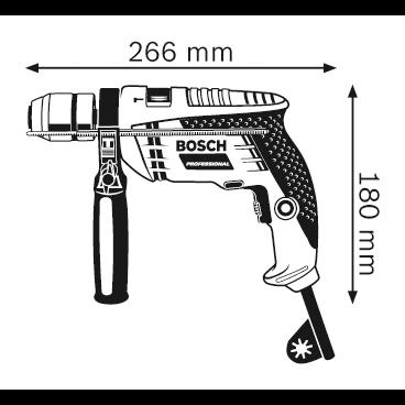 """Furadeira Com Impacto 1/2"""" 600w Bosch GSB 13 RE"""