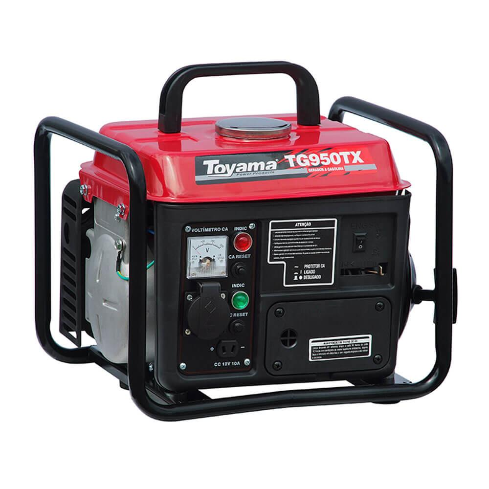 Gerador à Gasolina 2 Tempos 0,9KW 1.48 HP 220V - TG950TX - Toyama
