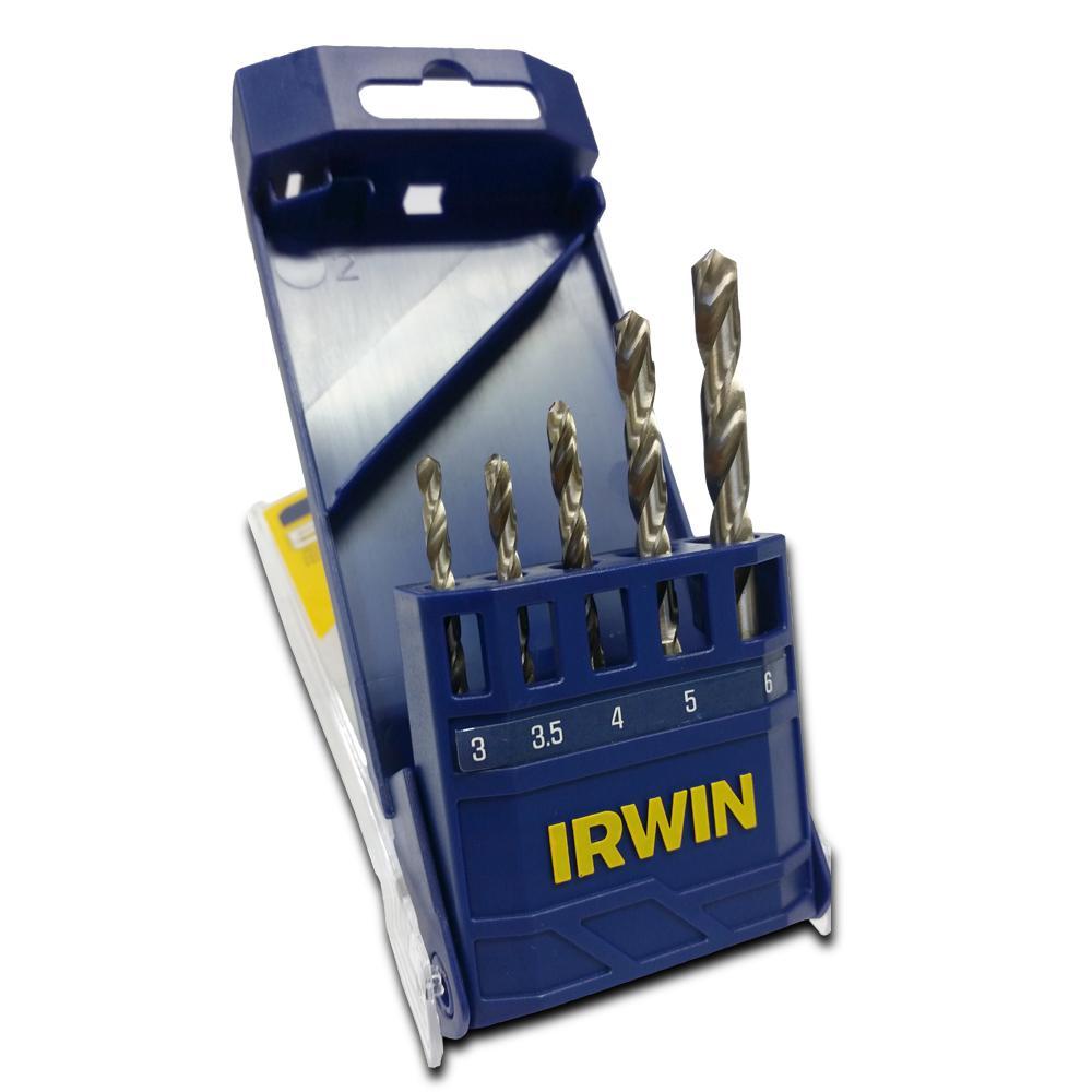 Jogo de Broca Aço Rápido 3 a 6mm 5 peças Irwin