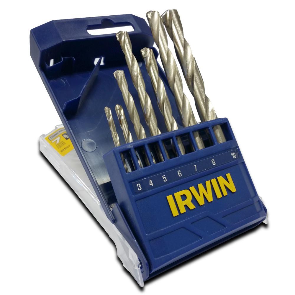 Jogo de Broca Widia 3 a 10mm 7 peças Irwin