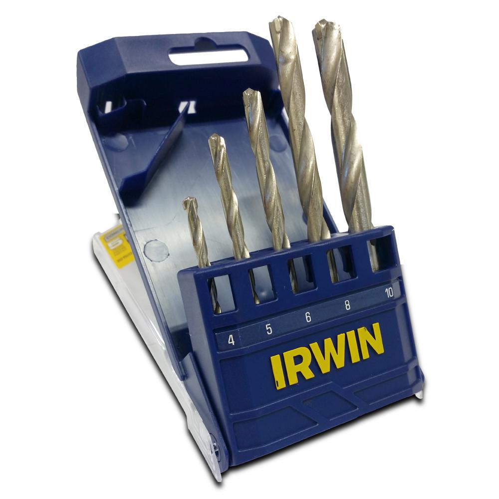 Jogo de Broca Widia 4 a 10mm 5 peças Irwin