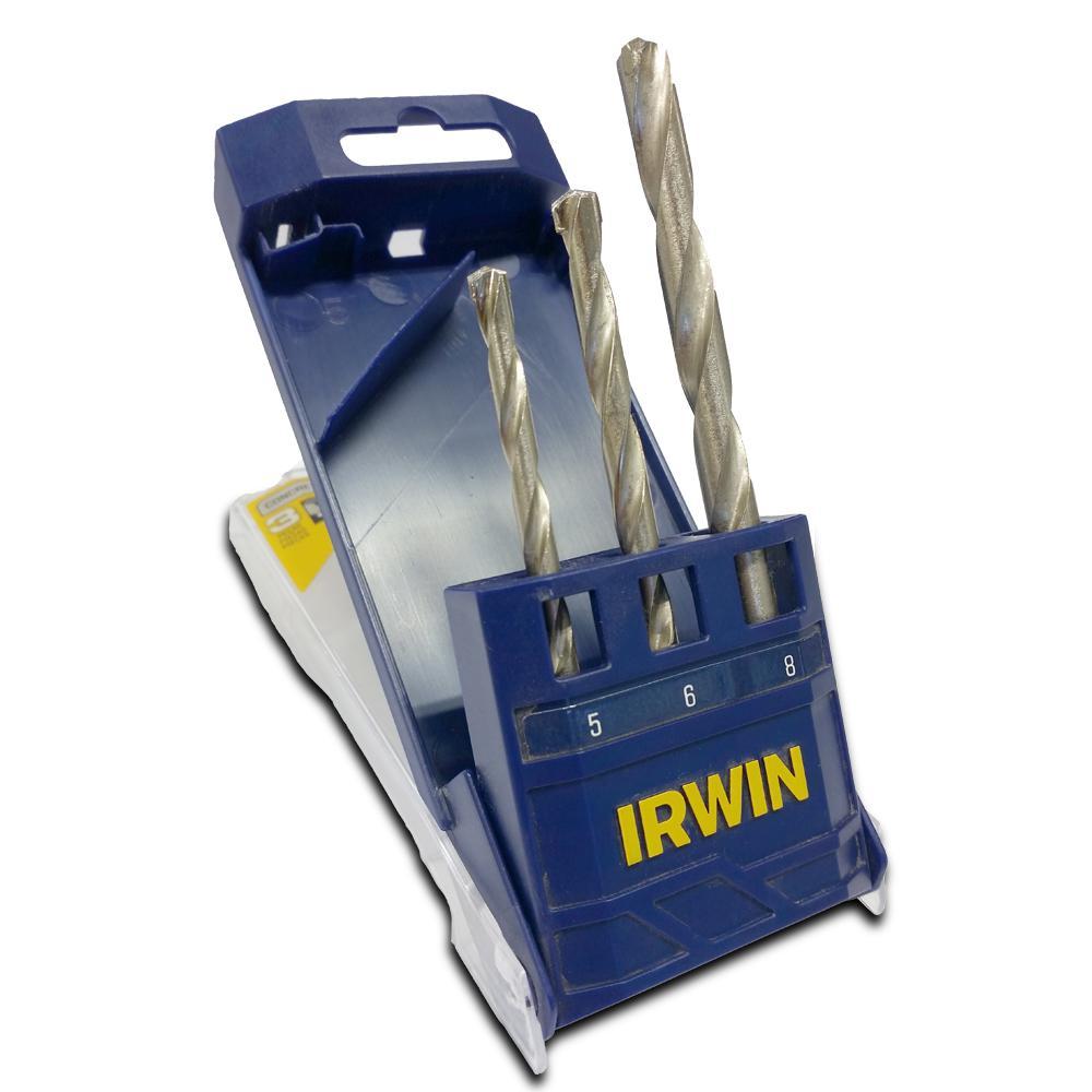 Jogo de Broca Widia 5 a 8mm 3 peças Irwin