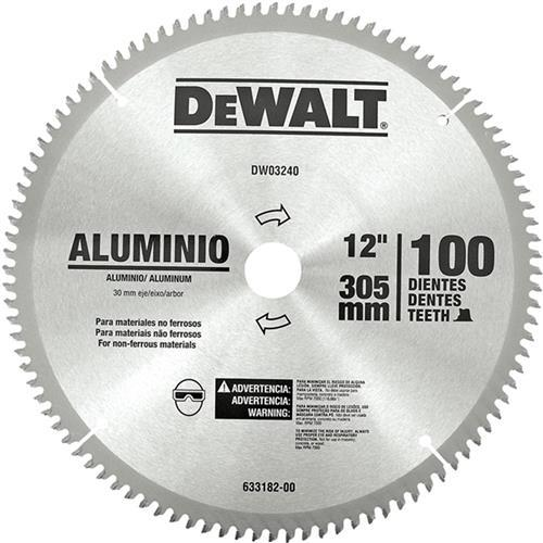 """Lâmina de Serra Esquadria Alumínio 12"""" 100 Dentes Dewalt DWA03240"""