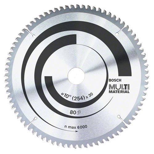 "Lâmina para Serra Circular 10"" 80 Dentes Multimaterial Bosch"