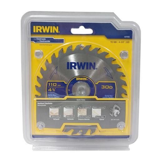 """Lâmina para Serra Circular 4.3/8"""" 30 Dentes Irwin"""
