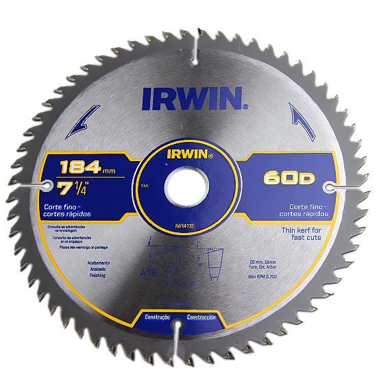 """Lâmina para Serra Circular 7.1/4"""" Irwin 60 Dentes"""