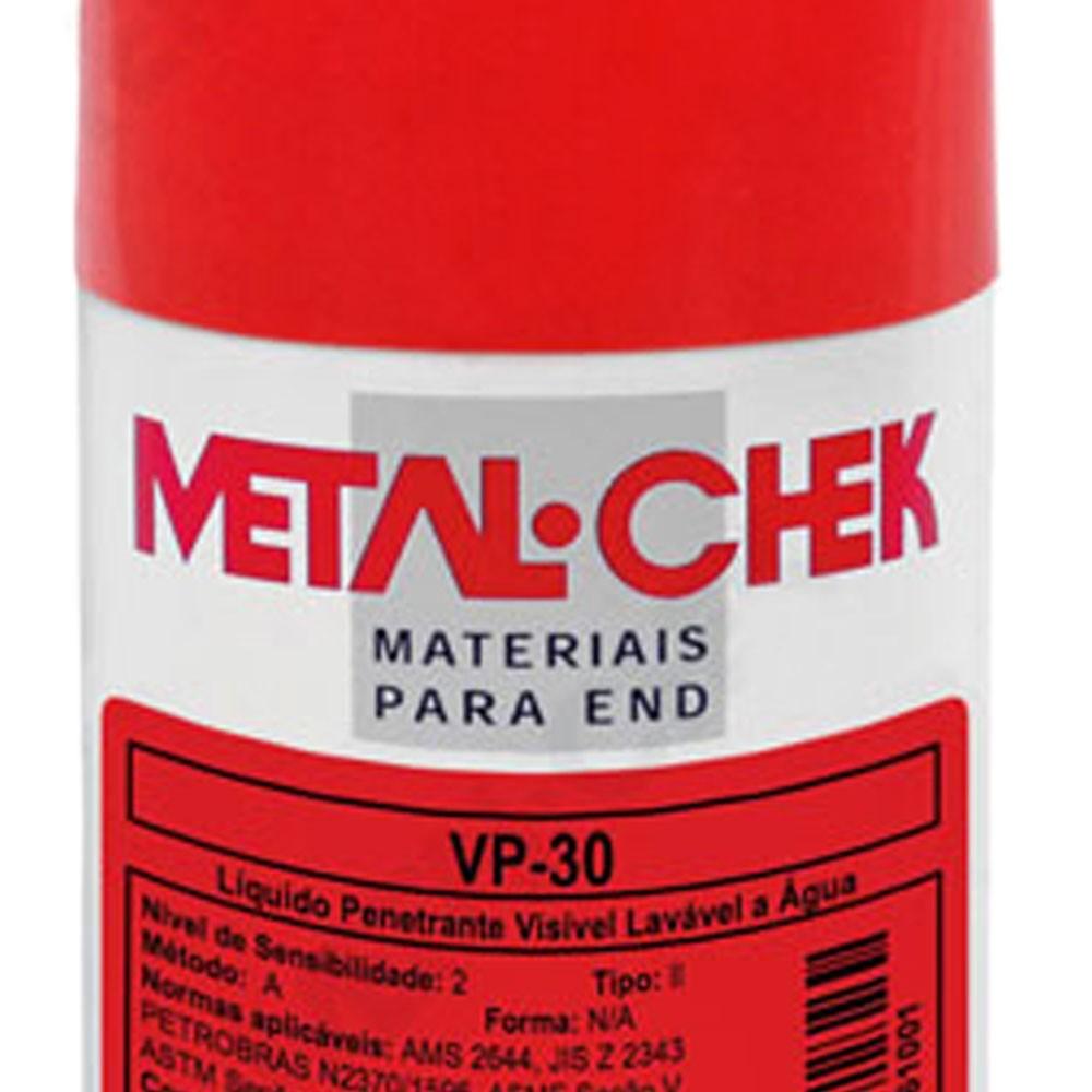 Líquido Penetrante Visível VP30 em Spray Lavável à Água 230g - METALCHEK
