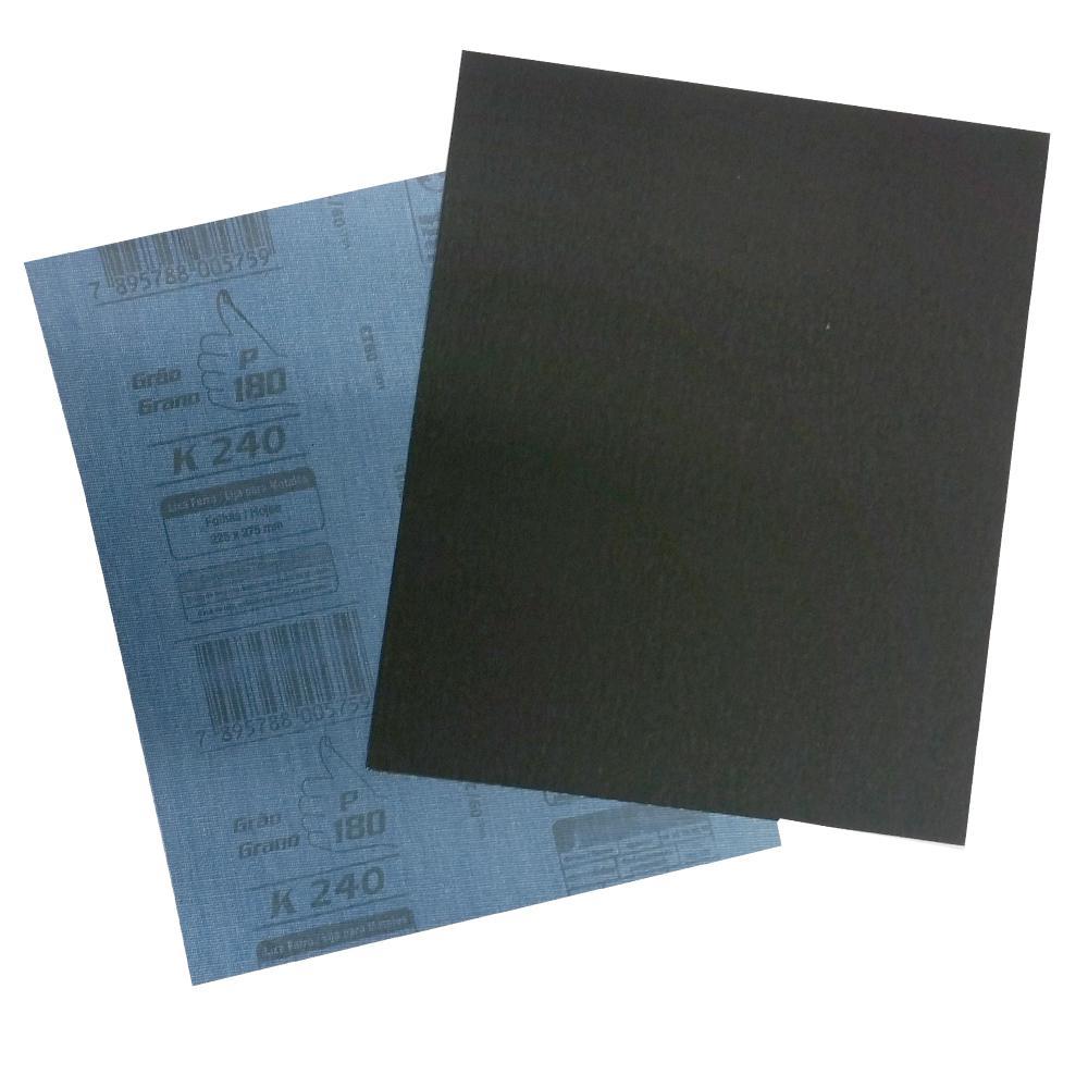 Lixa Ferro e Aço Alcar 225 x 275mm K240 Grão 40