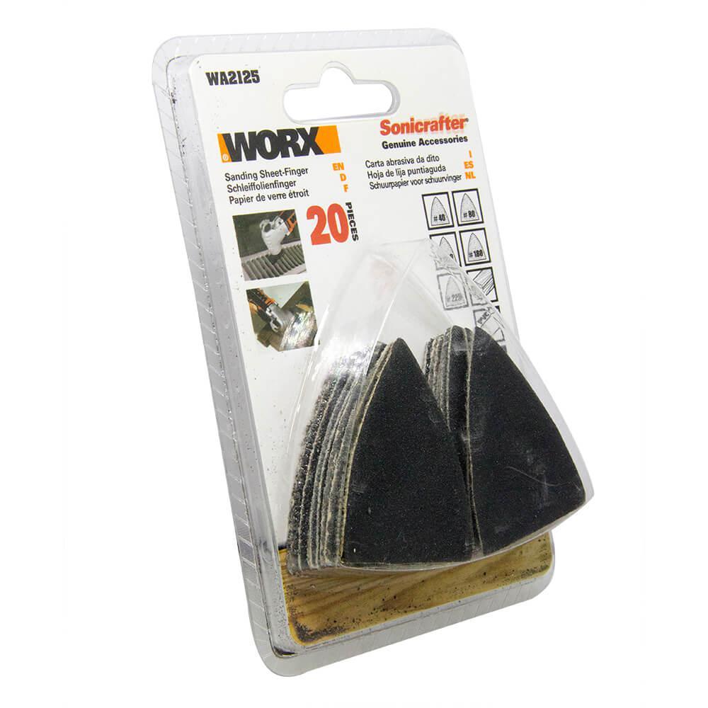 Lixa WA2125 Para Multiferramenta Worx 20 Peças