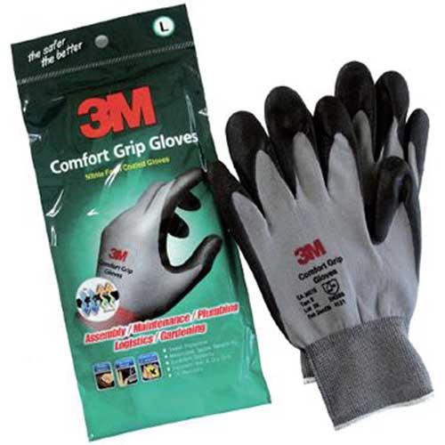 Luva de Malha Emborrachada 3M Comfort Grip M
