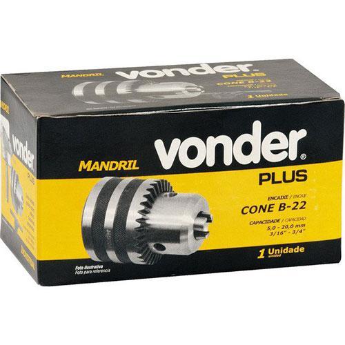 Mandril Industrial Vonder 3/4 5mm à 20mm Cone B22