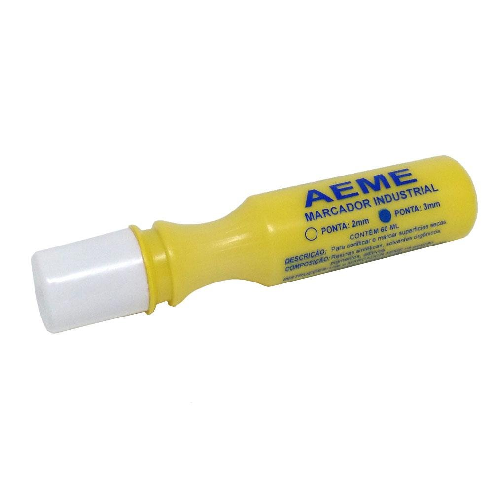 Marcador Industrial Aeme 3mm Amarelo
