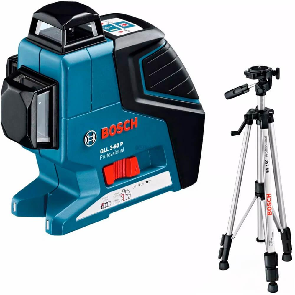 Nível a Laser Bosch GLL 3-80 P com Tripé BS150