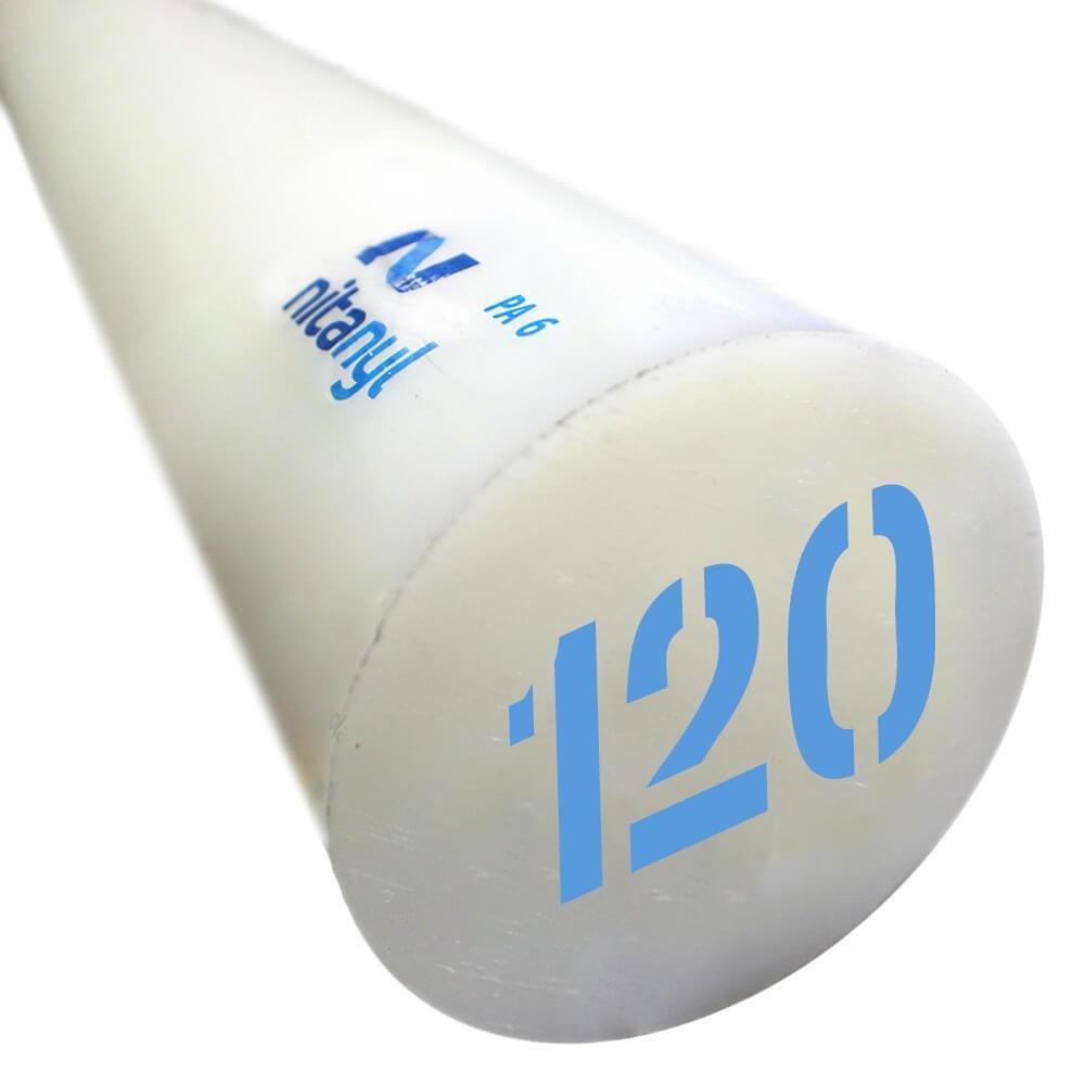 Nylon em Barra Nitaplast Nitanyl PA6 120mm