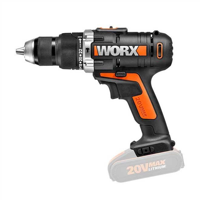 """Parafusadeira Furadeira 1/2"""" Worx WX372.9 S/Bateria S/Carregador"""