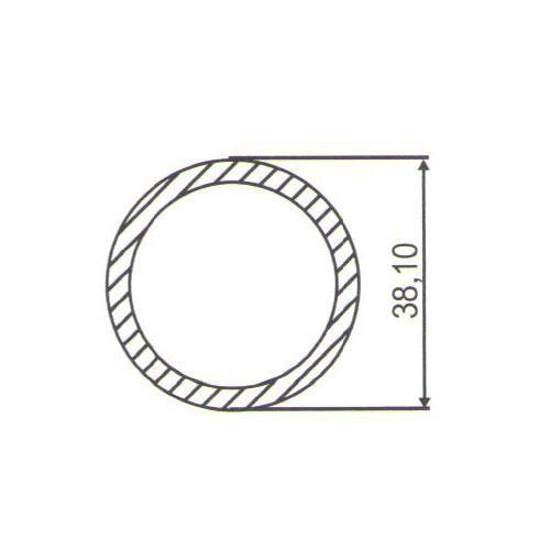 Puxador Duplo para Porta Pauma Alumínio Acetinado 289 100cm