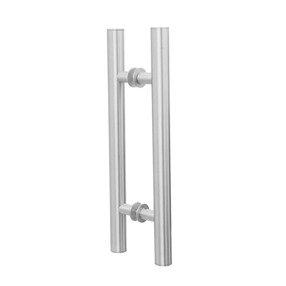 Puxador Duplo para Porta Pauma Alumínio Acetinado 289 80cm