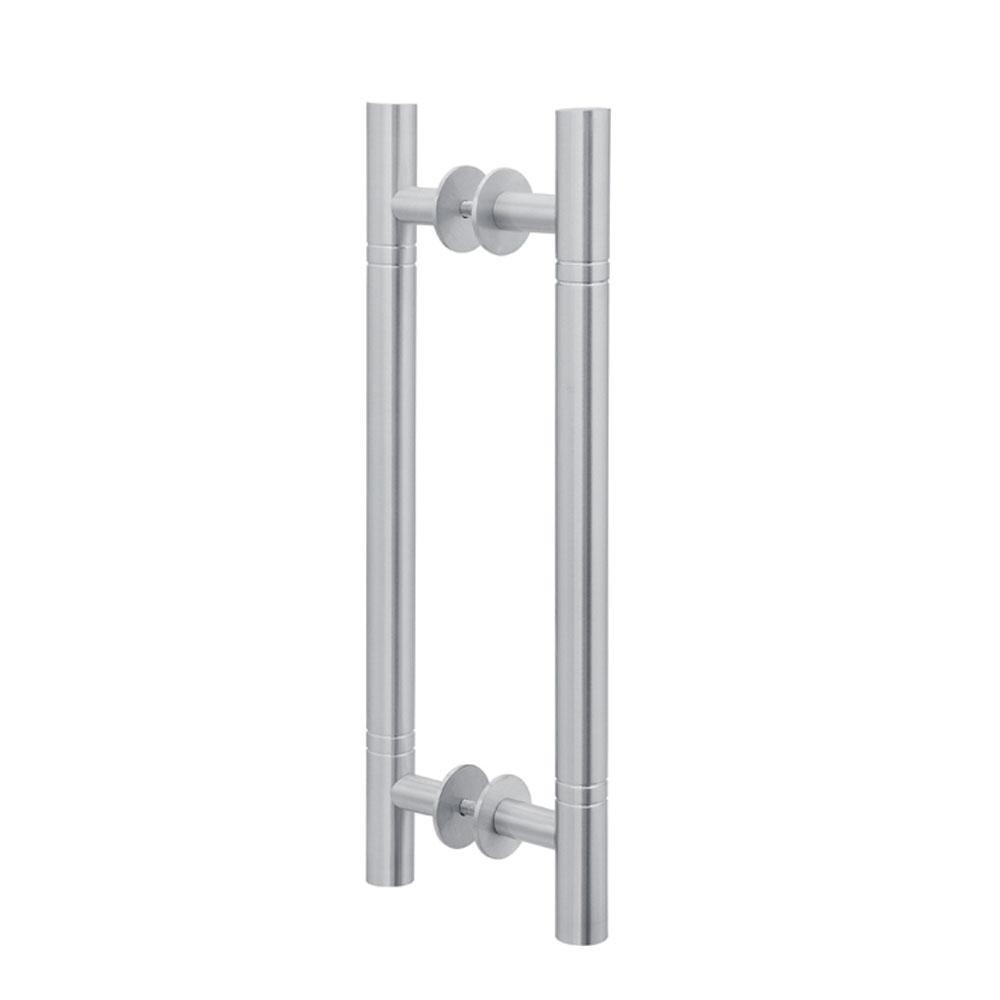 Puxador Duplo para Porta Pauma Alumínio Acetinado 291 com Friso 50cm