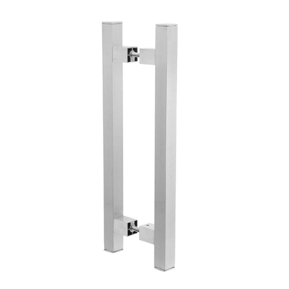 Puxador Duplo para Porta Pauma Alumínio Acetinado 293 80cm