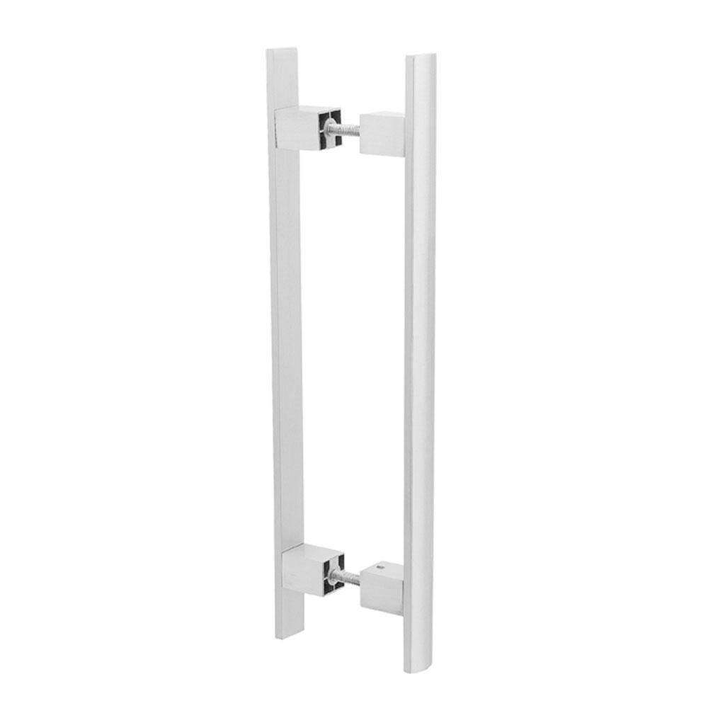 Puxador Duplo para Porta Pauma Alumínio Acetinado 299 40cm