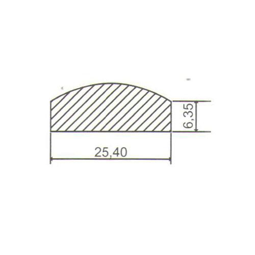 Puxador Duplo para Porta Pauma Alumínio Acetinado 299 50cm