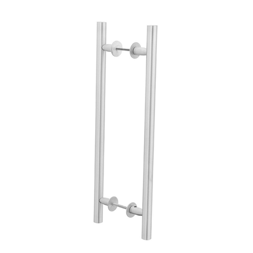 Puxador Duplo para Porta Pauma Alumínio Acetinado 311 sem Friso 25,6cm