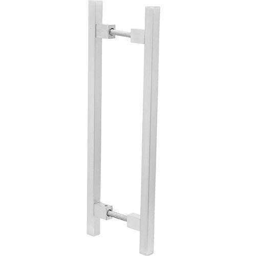 Puxador Duplo para Porta Pauma Alumínio Acetinado 313 9,6cm
