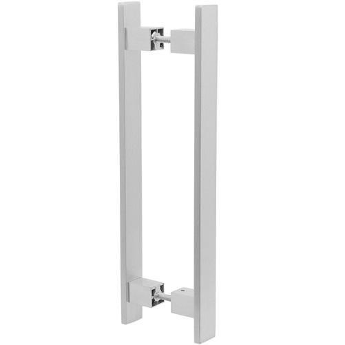 Puxador Duplo para Porta Pauma Alumínio Acetinado 314 80cm