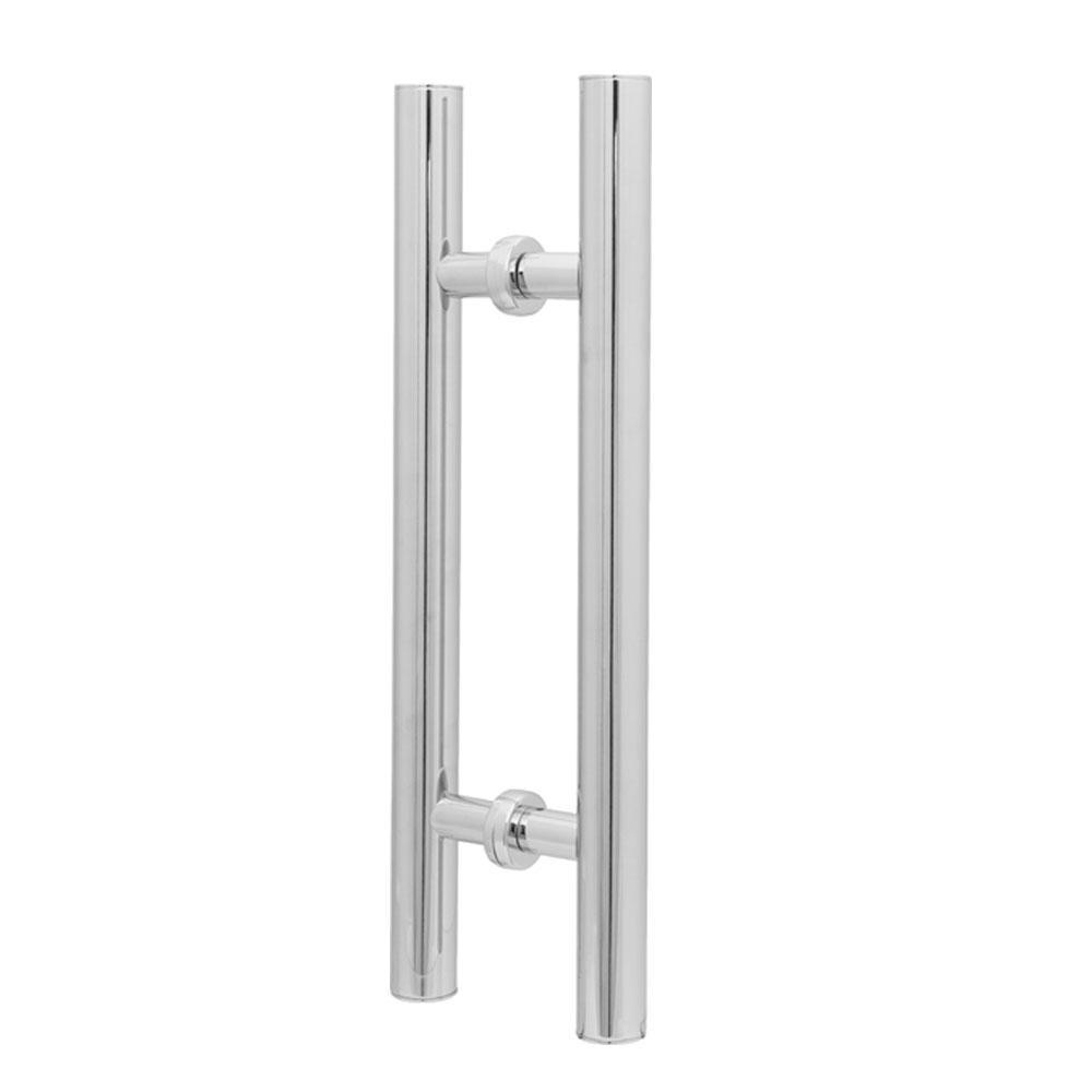 Puxador Duplo para Porta Pauma Alumínio Cromado 289 50cm