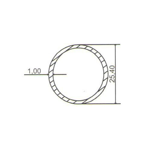 Puxador Duplo para Porta Pauma Alumínio Cromado 291 com Friso 100cm
