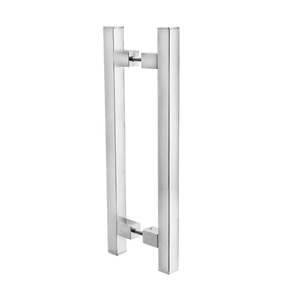 Puxador Duplo para Porta Pauma Alumínio Cromado 293 30cm
