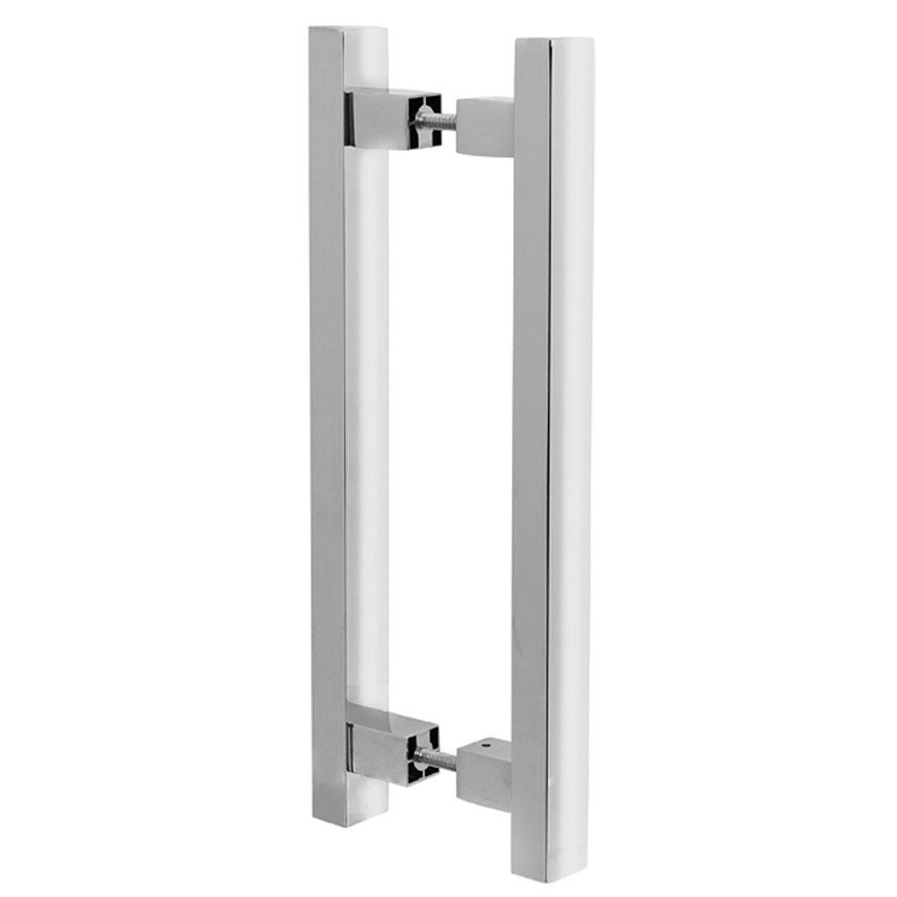 Puxador Duplo para Porta Pauma Alumínio Cromado 294 80cm