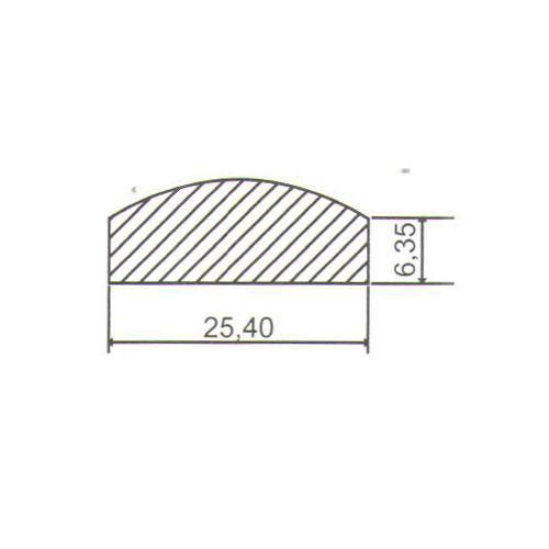 Puxador Duplo para Porta Pauma Alumínio Cromado 299 30cm