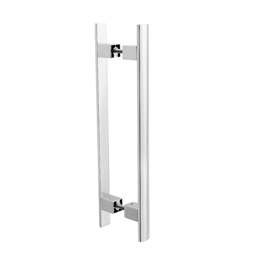 Puxador Duplo para Porta Pauma Alumínio Cromado 299 80cm
