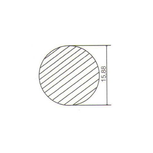 Puxador Duplo para Porta Pauma Alumínio Cromado 311 sem Friso 16cm
