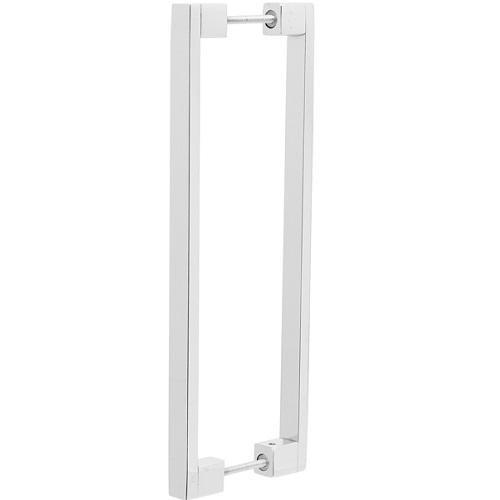 Puxador Duplo para Porta Pauma Alumínio Cromado 332 25,6cm