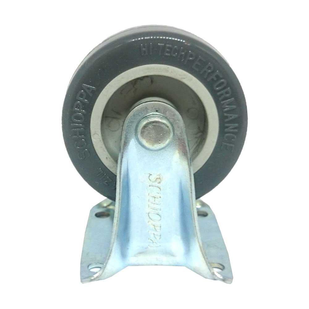 Rodízio PVC Placa Fixa Schioppa 2 Pol FLAP 210 BP 40 Kg