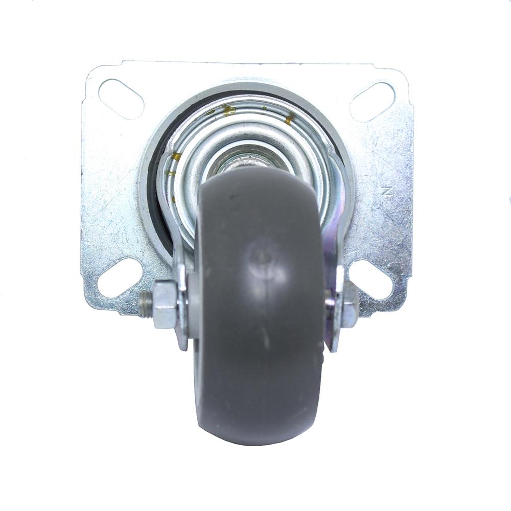 Rodízio PVC Placa Giratória Preto Schioppa 3 Pol GL 312 BP 60 Kg