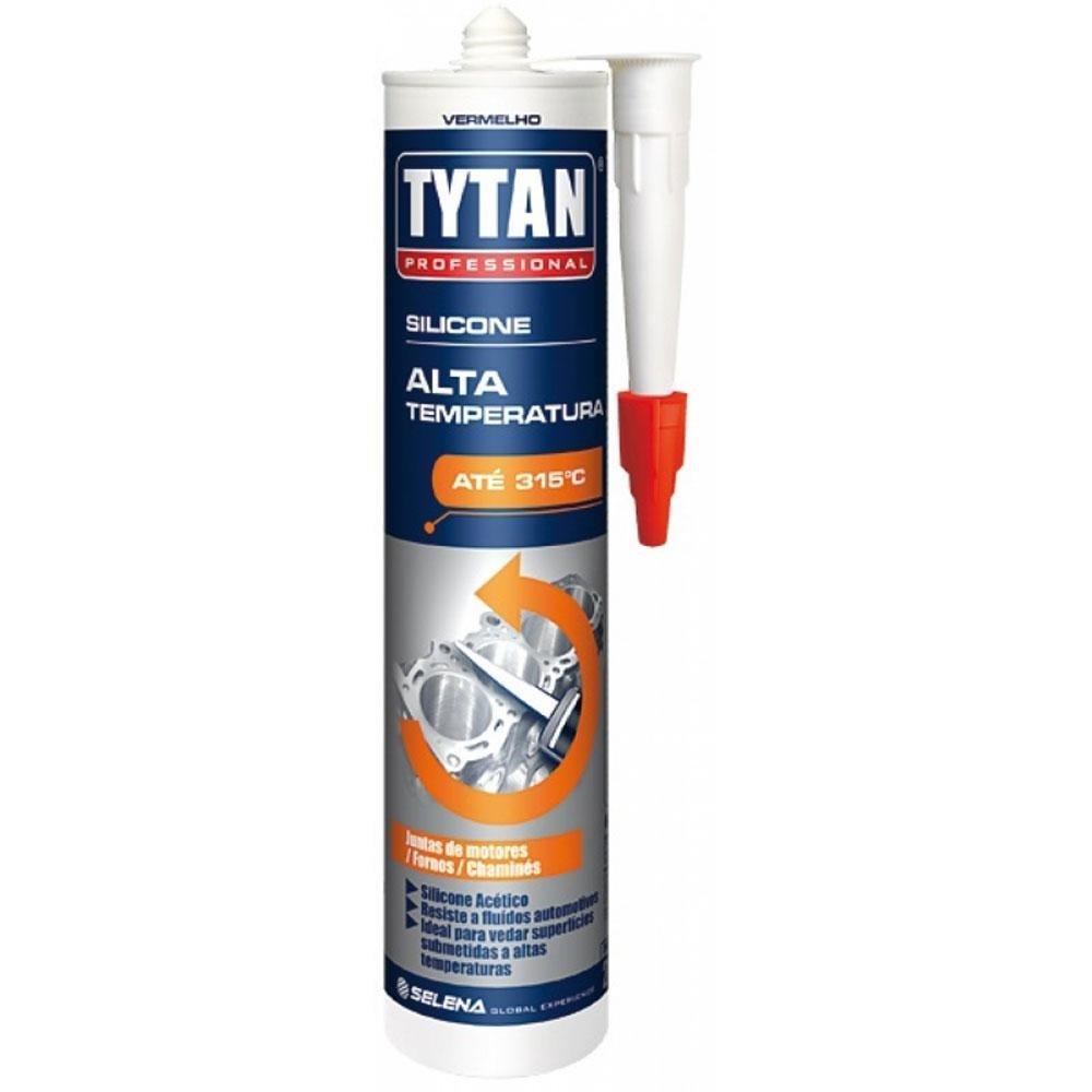 Silicone Alta Temperatura Tytan Vermelho 280g
