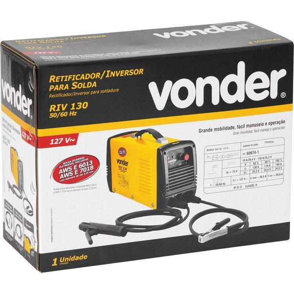 Solda Inversora 130 Amperes Vonder RIV130 110v