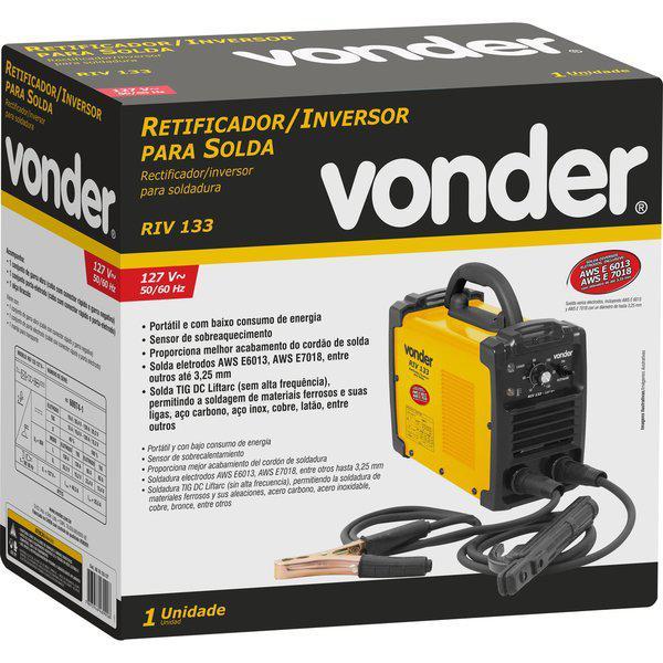 Solda Inversora 130 Amperes Vonder RIV133
